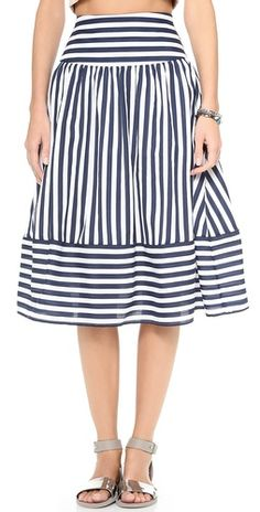 JOA Striped Skirt | SHOPBOP