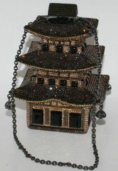 Judith Leiber Pagoda Crystal Evening Handbag.