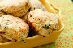 We cannot stop drooling over these Cheddar Bacon Green Onion Biscuits! SILPAT!  www.demarleathome.com