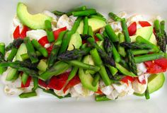 Potato Salad with Chargrilled Peppers, Asparagus and Avocado