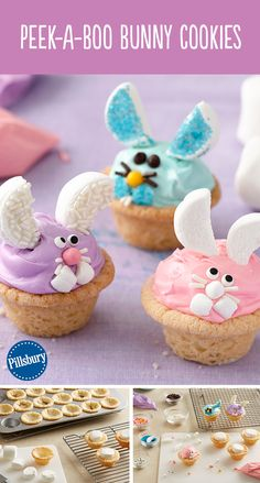 Bunnies are the cutest! Make these Peek-A-Boo Bunny Cookies this Easter using Pillsbury refrigerated sugar cookie dough. This is a fun recipe idea for the kids to help decorate. You could even have them as dessert for your Easter get-together.