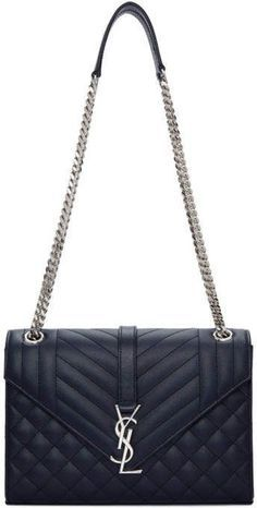 Saint Laurent Navy Medium Quilted Envelope Monogram Chain Bag  FTC  Disclosure  This is an affiliate link 6d8a9d0d031d4