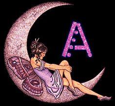Alfabeto de hadas en la luna. - Oh my Alfabetos! Cork Crafts, Minnie Mouse, Disney Characters, Fictional Characters, Creations, Fairy, Clip Art, Lettering, Board