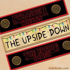 Stranger Things is my all time favourite Netflix series. So I created some free printable Stranger Things Party printables. Stranger Things Quote, Stranger Things Steve, Stranger Things Aesthetic, Stranger Things Season 3, Stranger Things Netflix, Printable Labels, Party Printables, Free Printables, Free Printable Party