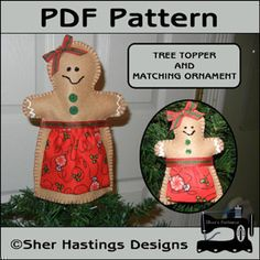 Download Gingerbread Tree Topper & Ornament Sewing Pattern   Featured Products   YouCanMakeThis.com