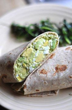 Photo: Avocado Egg Salad    4 hard-boiled eggs  1 large avocado, cubed   2 tablespoons mayonnaise   1 teaspoon curry or fenugreek powder  Pinch of salt and pepper Combine all the ingredients in a large bowl and mash together with a fork. Adjust the salt/pepper/mayo to your tastes. Then slap between two slices of bread or in a wrap and enjoy. Or even stuff tomatoes with it also