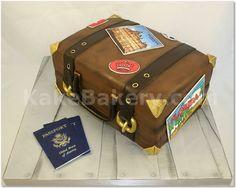 Vintage Luggage Grooms Cake