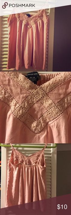 Selling this American Eagle Lace Accented Cami in my Poshmark closet! My username is: catcas123. #shopmycloset #poshmark #fashion #shopping #style #forsale #American Eagle Outfitters #Tops