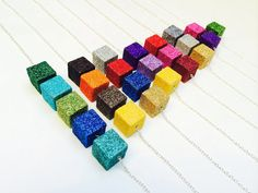 Design your own necklace, glitter cube, wood cube necklace, minimalist, bridesmaid gift, sparkle, everyday necklace, birthday, birthstone