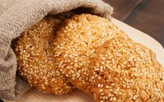 This Sesame Seed Cookie Recipe is a healthy vegetarian dessert using natural baking ingredients. Kefir, Easy Cookie Recipes, Real Food Recipes, Asian Recipes, Sesame Seed Cookies Recipe, Peanut Butter Biscuits, Vegetarian Desserts, Sweet Cookies, Healthy Sweets