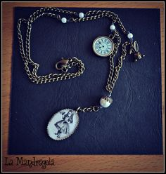 #alice #wonderland #necklace #handmade