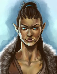 """issyscribbles: """"Rashna, the barbarian! The 8 int monkey– One of my favorite characters to play so far in a campaign, mostly due to the dumb things I can get away with."""""""