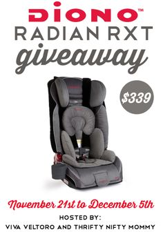Ends 12/05. Open to US. With the holidays coming, it's the perfect time to think about those moms-to-be and new babies on your holiday list. What better gift can you give than one of the safest car seats on the market, that just so happens to be the only seat they'll ever need?! That's why …
