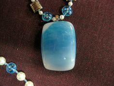 36 - Mermaid Skies - Ocean Blue and White Pearls. $28.00, via Etsy.