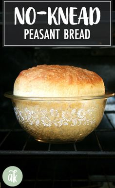 bread recipes No-knead peasant bread the best, easiest bread you will every make. This bread takes five minutes to whisk together theres no need to flour a work surface or get your hands dirty. This bread might just change your life. Bread And Pastries, Peasant Bread, No Knead Bread, No Yeast Bread, Yeast Bread Recipes, Recipes For Bread, Yeast Free Breads, Artisan Bread Recipes, No Rise Bread