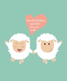 Happy Sheep Couple by thewishdesigns