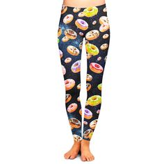 Doughnuts and Space Leggings