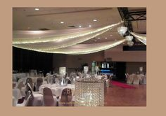 # Indian wedding room in white with crystal table decor by Beautiful Weddings & Event Styling Australia