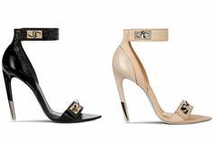 Givenchy's  Fall 2012, elegant shoe sculpted from refined patent and normal leather, adorned with metallic details are fly!!!