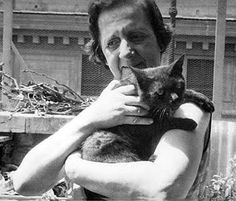 Spanish writer and philosopher María Zambrano with one her many, many cats