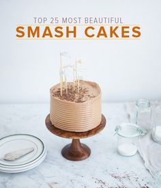 "For the uninitiated, a ""smash cake"" is a cake that has been made for the express purpose of being destroyed, typically by a little tyke celebrating their first birthday. Admittedly, it's a concept that probably doesn't make much sense outside of parenting circles.    To inspire those who want to join the cake-smashing tradition, here's my shortlist of the 25 most beautiful smash cakes."