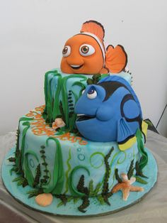 Fishing Cake Party Time Pinterest Cakes Change  And - Nemo fish birthday cake