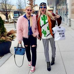 Beckerman sisters wearing Pedro García Parson pink satin sneakers