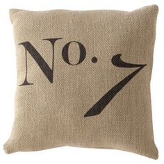 Number 7 Pillow ($24) ❤ liked on Polyvore featuring home, home decor, throw pillows and cotton throw pillows