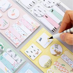 Enjoy mix-matching these cute sticky notes with the colors of your notes and bullet journal spreads. | Find them at Kawaii Pen Shop and enjoy FREE worldwide shipping!