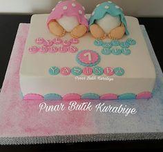Pınar Butik Pasta & Kurabiye (ANKARA): İkiz Bebek temalı pastam.