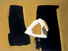Robert Motherwell - Afternoon in Barcelona, 1958.   Synthetic polymer and oil on canvas,  54 x 72 inches