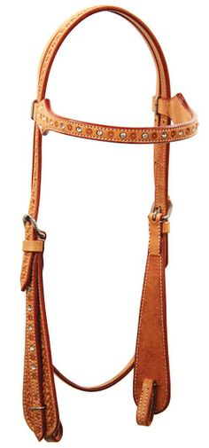Buffalo Leather Of The Rockies Diamond Browband Headstall | ChickSaddlery.com