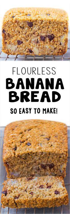 The Best Flourless Banana Bread Recipe #easy #vegan #easyrecipe #breakfast #banana #bread #food #delicious #howto