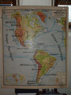 Carte scolaire Vidal Lablache #18 - Continent Américain