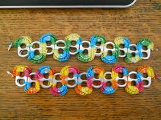 upcycled pop tab bracelet pattern from The Hat Factory