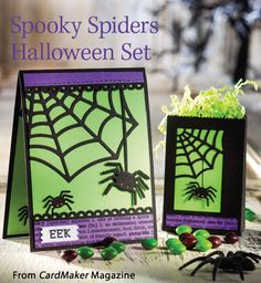Spooky Spiders Halloween Set from the Autumn 2014 issue of CardMaker Magazine. Order a digital copy here: http://www.anniescatalog.com/detail.html?code=AM5254