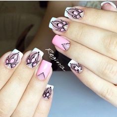 Beautiful French nails, Elegant nails, French manicure, French manicure ideas, French manicure ideas French manicure with… Pink Manicure, Pink Nail Art, Pink Nails, Manicure Ideas, Manicure 2017, Black Nails, White Nails, Orange Nail Designs, Best Nail Art Designs