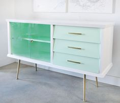 Before and After: Painted Vintage Sideboard - visualheart