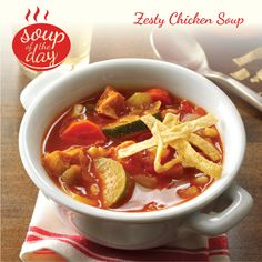 Zesty Chicken Soup Recipe from Taste of Home -- shared by Gwen Nelson, Castro Valley, California