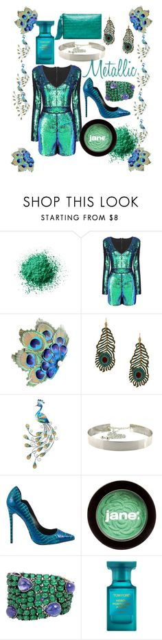 """Metallic"" by miss-jj ❤ liked on Polyvore featuring Kenneth Jay Lane, WALL, Lust For Life, jane, Tom Ford and Kayu"