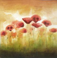 Fairy Tale Poppies - Watercolor Flower