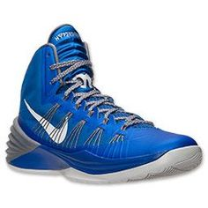 Men's Nike Hyperdunk 2013 Basketball Shoes | FinishLine.com | Game Royal/Metallic Silver/Cool Grey