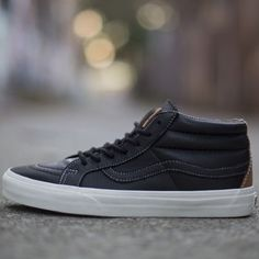 Fancy - Vans CA Sk8 Mid Waxed Leather Sneakers