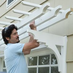 Position the Pergola   How to Build a Garage Pergola   This Old House