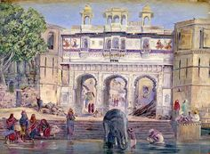 NORTH, Marianne English Victorian botanical artist (1830-1890)_Water Gate Oodipore India Janr 1879