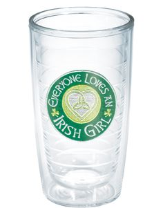 Everyone loves an Irish girl. She'll tie your heart in Celtic knots while enjoying a tasty beverage in great Tervis drinkware. Get one for your Irish lass today.
