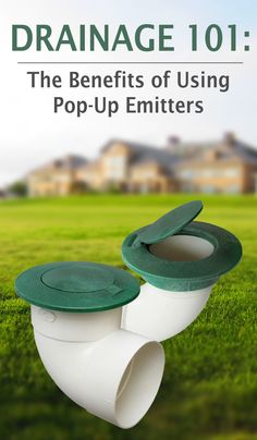Pop-up emitters are ideal for connecting to downspouts to get water away from your home and foundation. Click through to read the benefits of using pop-up emitters in your home's drainage plan. Sump Pump Drainage, Gutter Drainage, Backyard Drainage, Landscape Drainage, Drain Français, Pop Up, Drainage Solutions, Drainage Ideas, French Drain