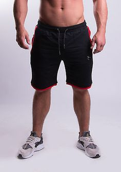 #Tremor #fitness shorts black/red gymwear gym bodybuilding gymwear #fleece lined,  View more on the LINK: http://www.zeppy.io/product/gb/2/201756838419/