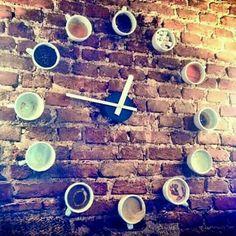 #Café ♡ Relógio Sempre é Hora de Café! ☆ ♡