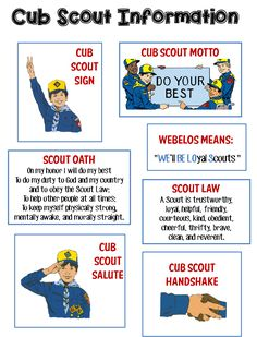 7 years old or grade and Isaac can be a Cub Scout. Strong Armor: Cub Scouts - Scout Oath and Law Helps and Printables Cub Scout Motto, Cub Scout Law, Cub Scouts Wolf, Tiger Scouts, Scout Mom, Girl Scouts, Cub Scout Games, Cub Scout Activities, Scouting